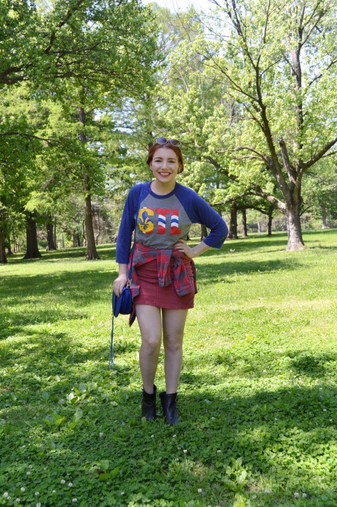 Somewhat Sporty…? | STL Baseball Tee + Miniskirt – Oh, Julia Ann