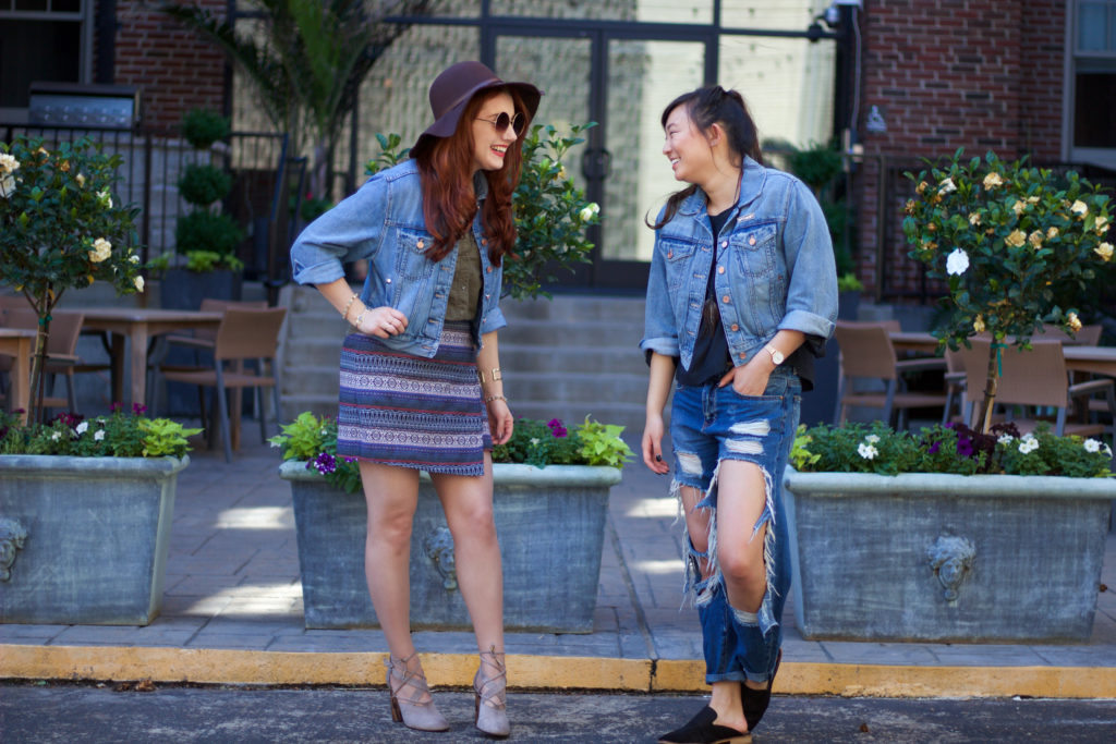 Denim Party | #Karlie4Express Denim Jacket Styled Two Ways with Mattea LinAe
