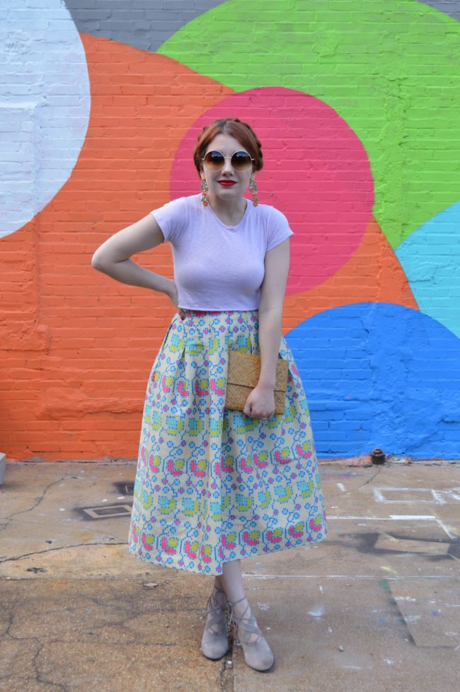Big, Bright, and Bold Summer Midi Skirt Outfit