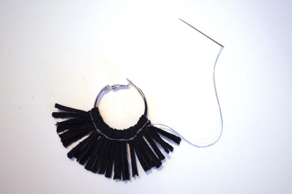 Summer DIY Fringe Hoop Earrings