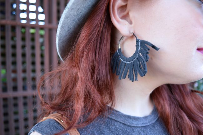 Fringe (Earring) Benefits | DIY Tassel Hoop Earrings