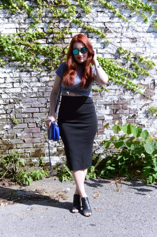 Midi Pencil Skirt Love