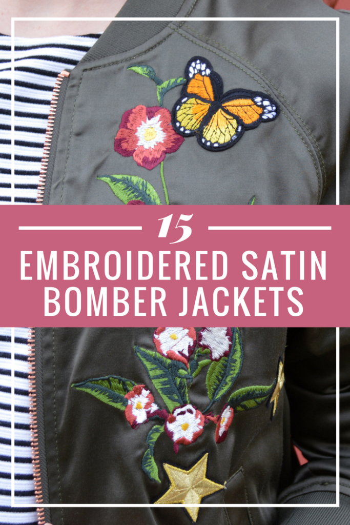 In Case of Air Conditioning… 15 Embroidered Satin Bomber Jackets