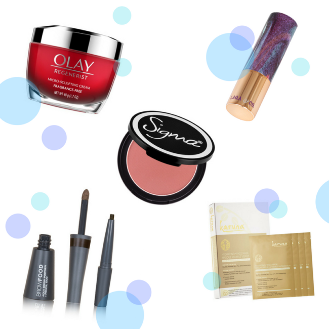 Trying Five Beauty Products: Reviews of Olay, Sigma, Karuna, LashFOOD, and LAQA & CO.