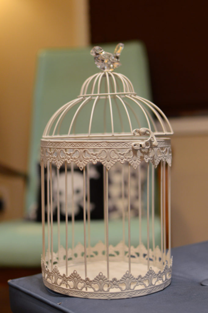 Wedding Card Birdcage into Spooky DIY Halloween Centerpiece Oh