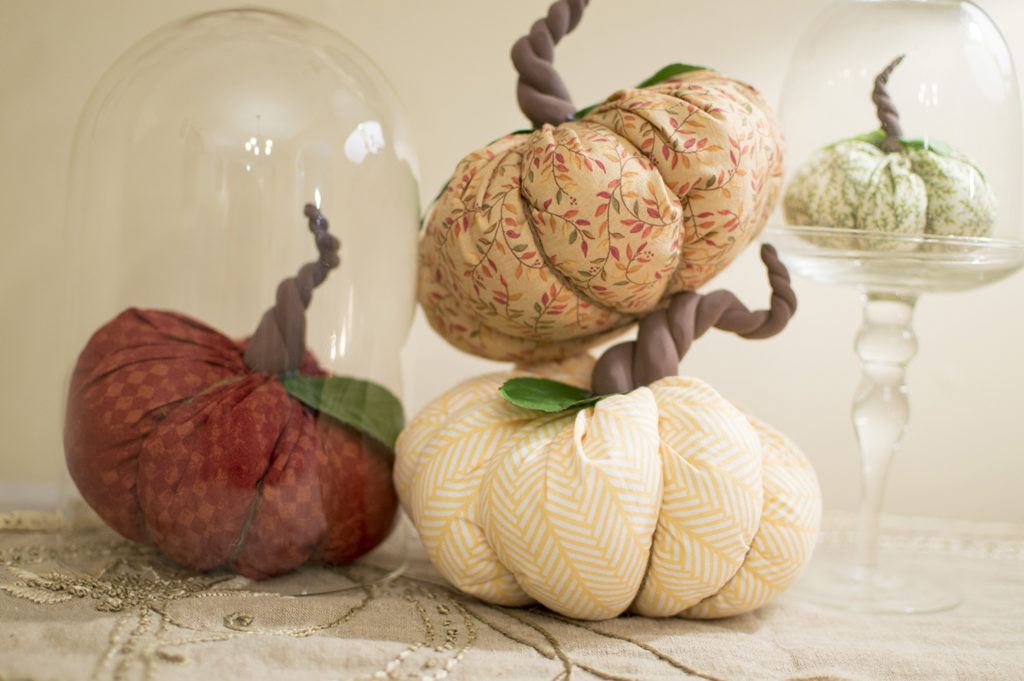 Autumn Arts and Crafts | Easy DIY Fabric Pumpkins with Homemade Stems