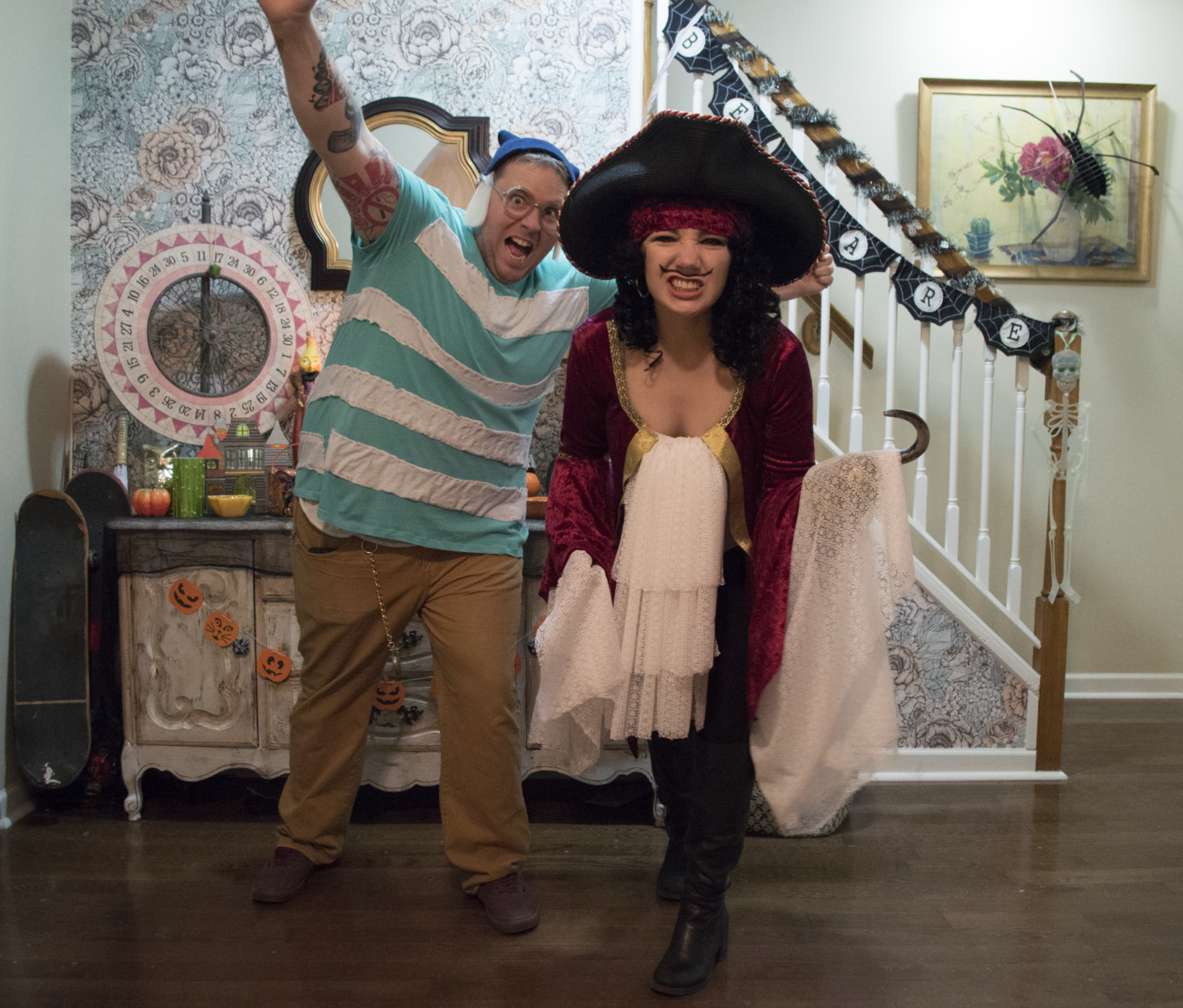 Happy Halloween from Captain Hook & Mr. Smee!