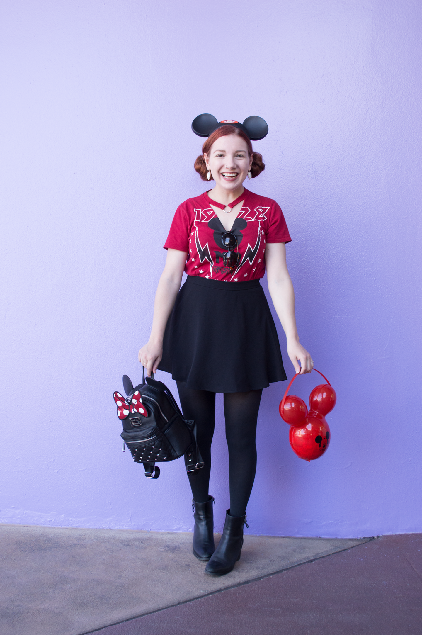 Walt Disney World Outfit: Posing at the Purple Wall
