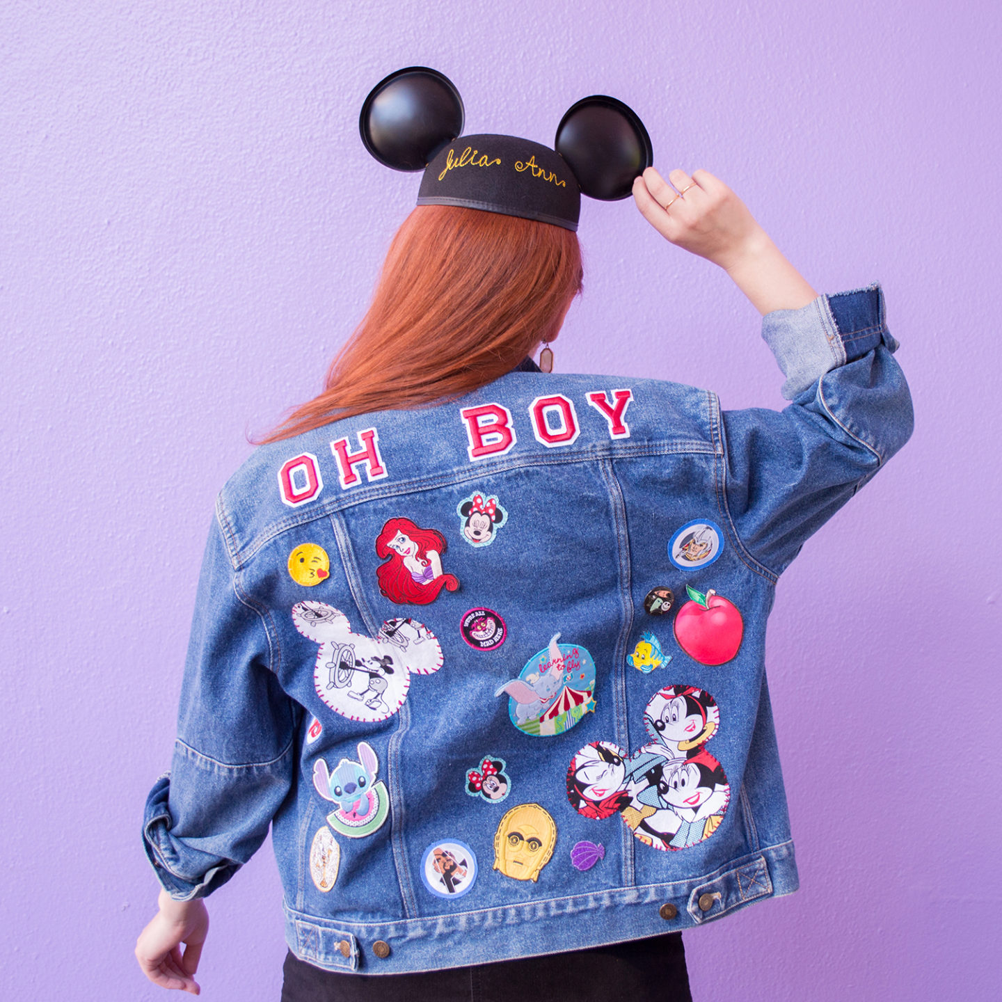 DIY Disney Denim Jacket with Homemade Patches