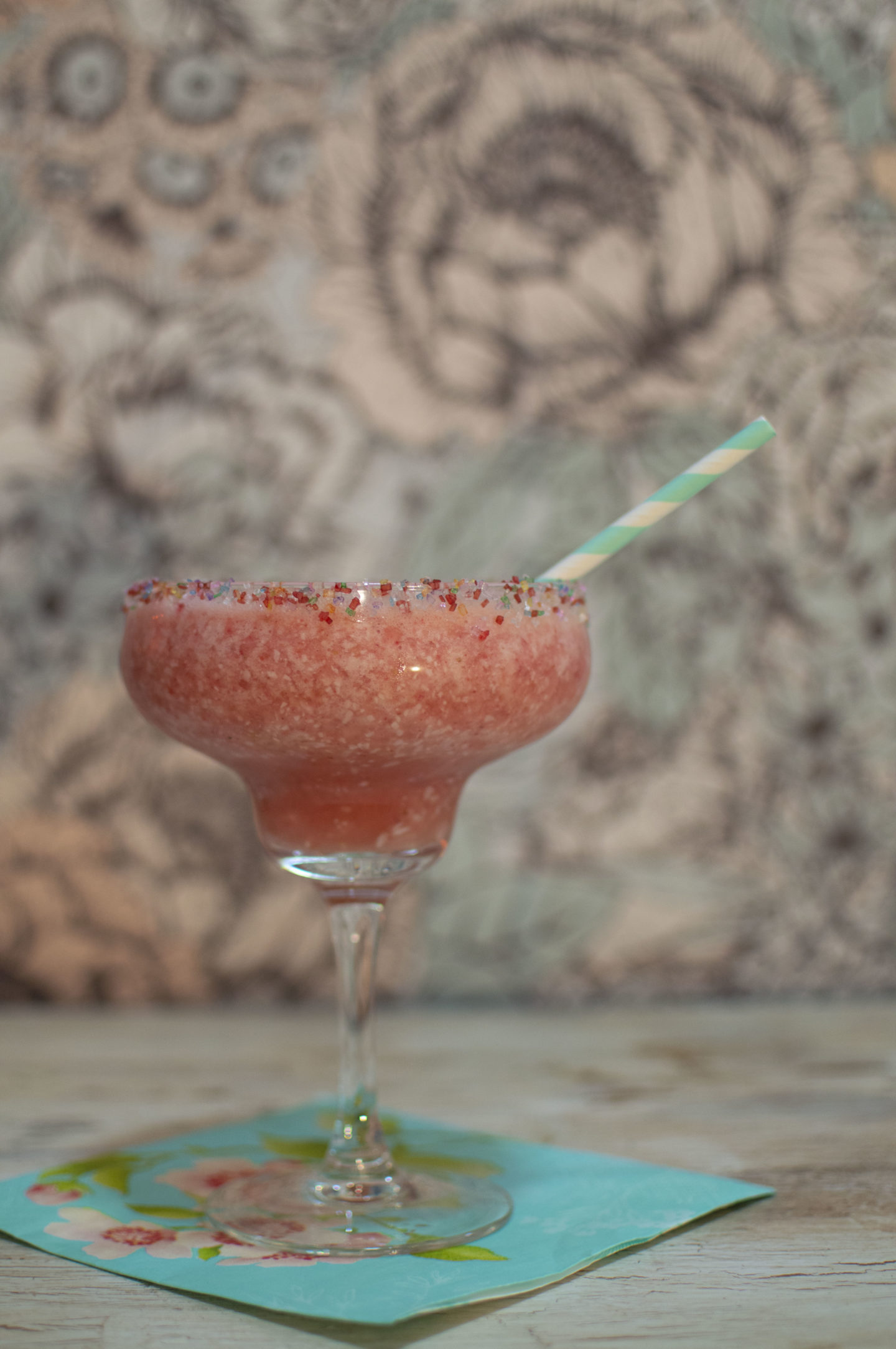 Last Bit of Summer: Spiced Strawberry Pina Colada Recipe