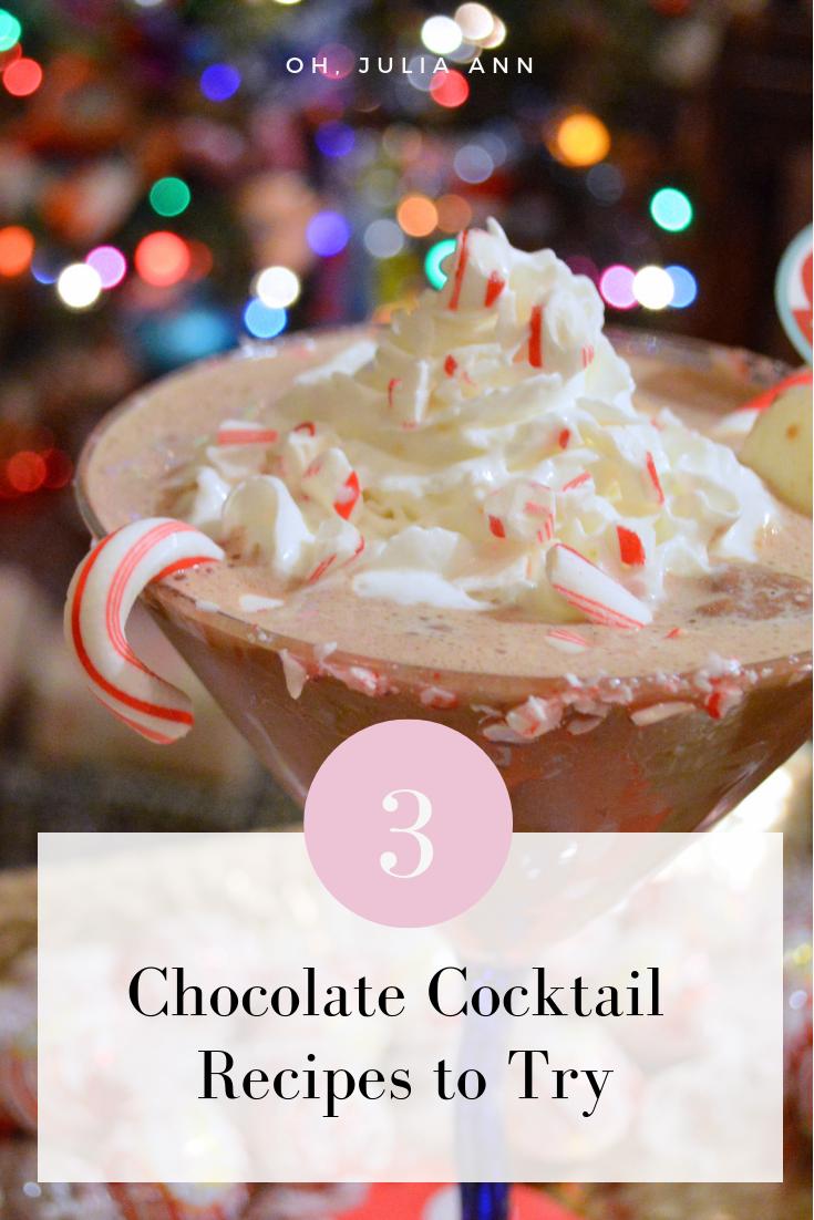 3 Chocolate Cocktails to Brighten Your Week
