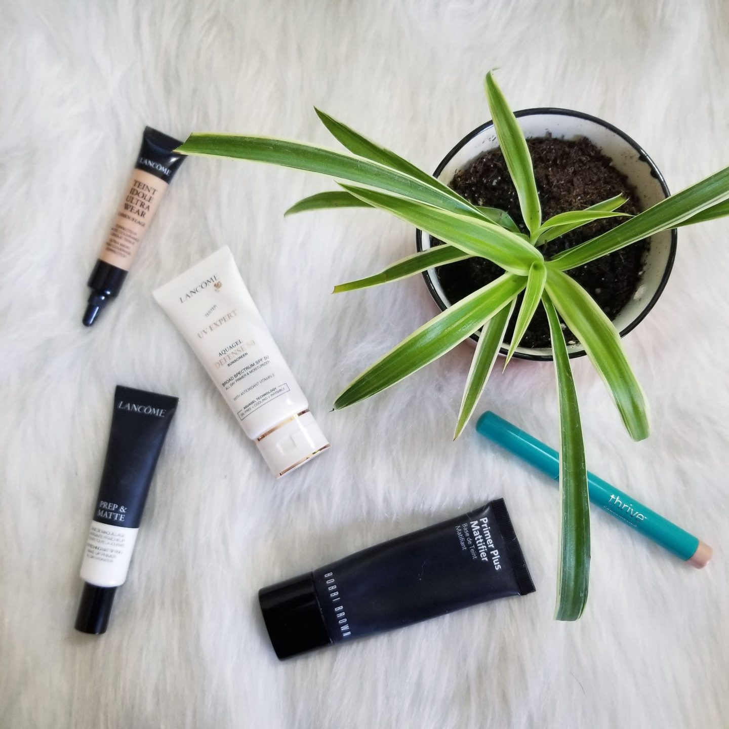 Trying Five Face Products: Reviews of  Lancôme, Bobbi Brown, and Thrive Causemetics Makeup